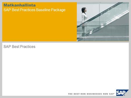 Matkanhallinta SAP Best Practices Baseline Package