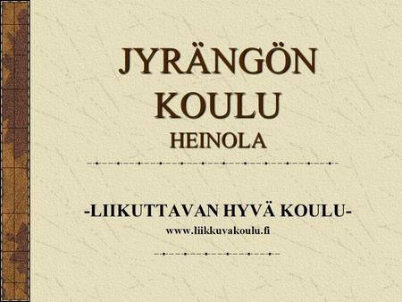 sisäinen haku työhakemus Suonenjoki