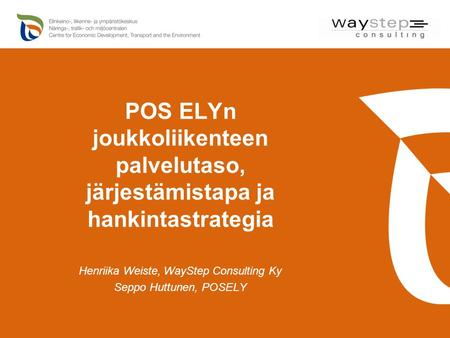 Henriika Weiste, WayStep Consulting Ky