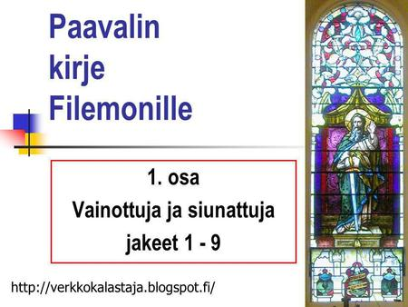 Paavalin kirje Filemonille