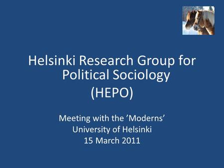 Helsinki Research Group for Political Sociology (HEPO)