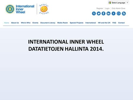 INTERNATIONAL INNER WHEEL DATATIETOJEN HALLINTA 2014.
