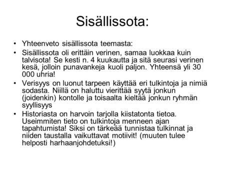 Suomen itsenäistyminen ja sisällissota ppt lataa