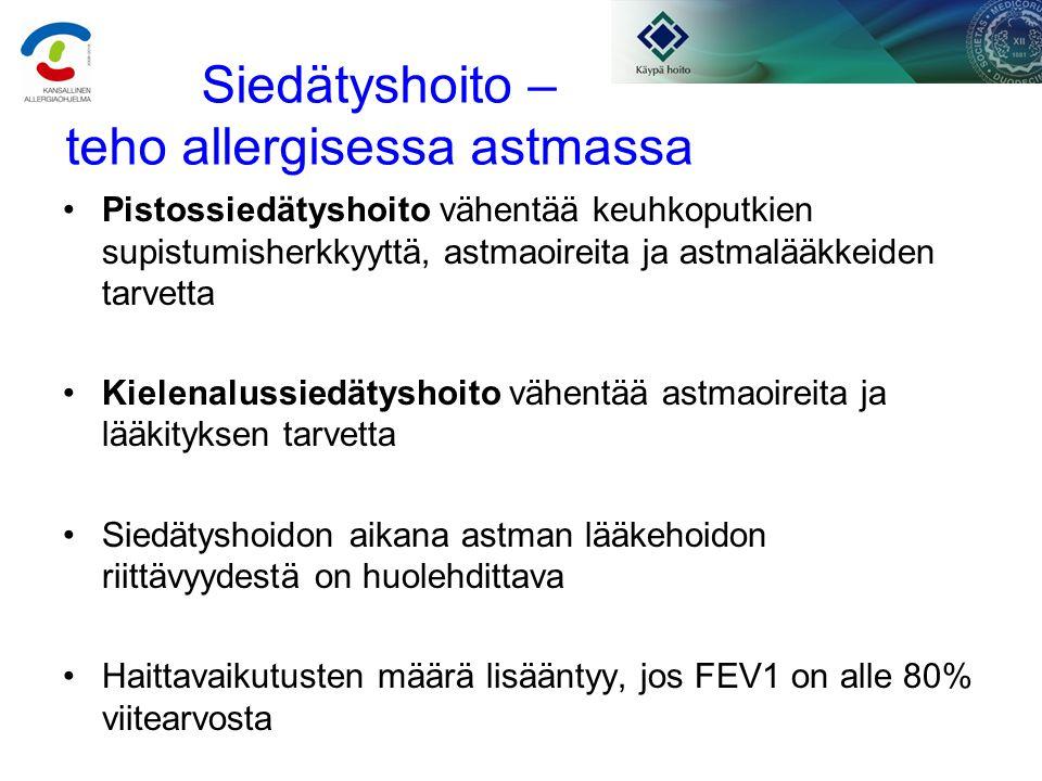 Lasten ruoka-allergiasta ja siedätyshoidosta - ppt lataa