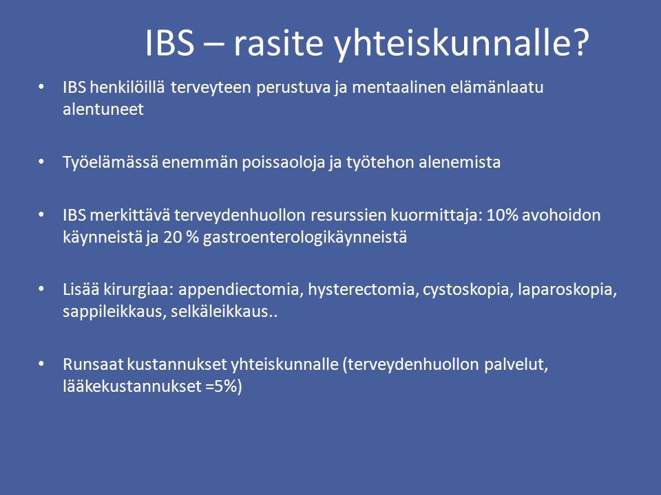 IBS – rasite yhteiskunnalle