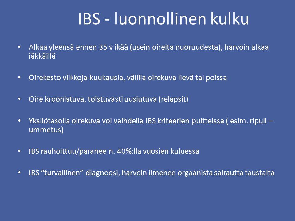 IBS - luonnollinen kulku