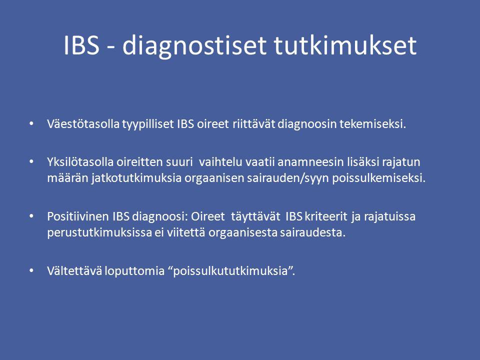 IBS - diagnostiset tutkimukset