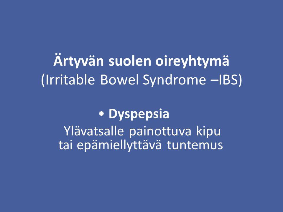 Ärtyvän suolen oireyhtymä (Irritable Bowel Syndrome –IBS)