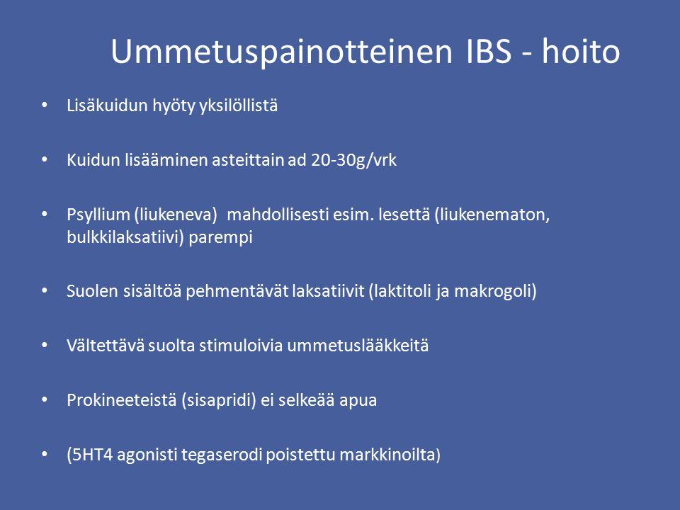 Ummetuspainotteinen IBS - hoito