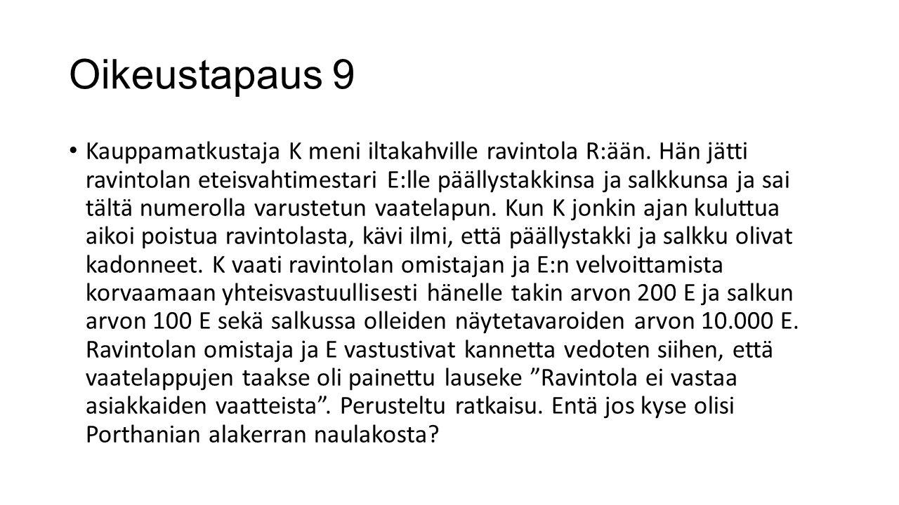 Oikeustapaus 9