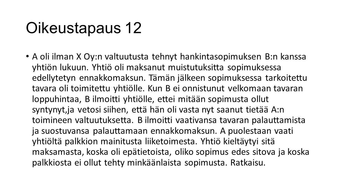 Oikeustapaus 12