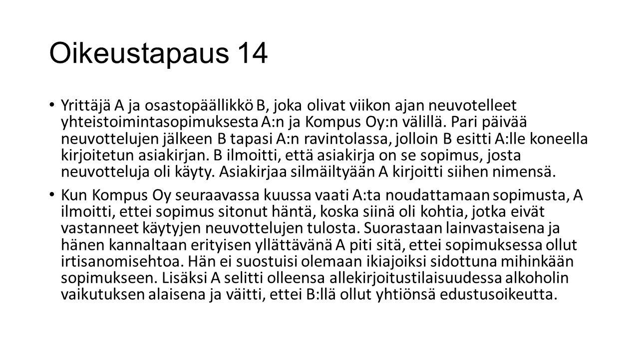 Oikeustapaus 14