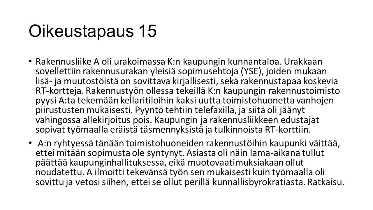 Oikeustapaus 15