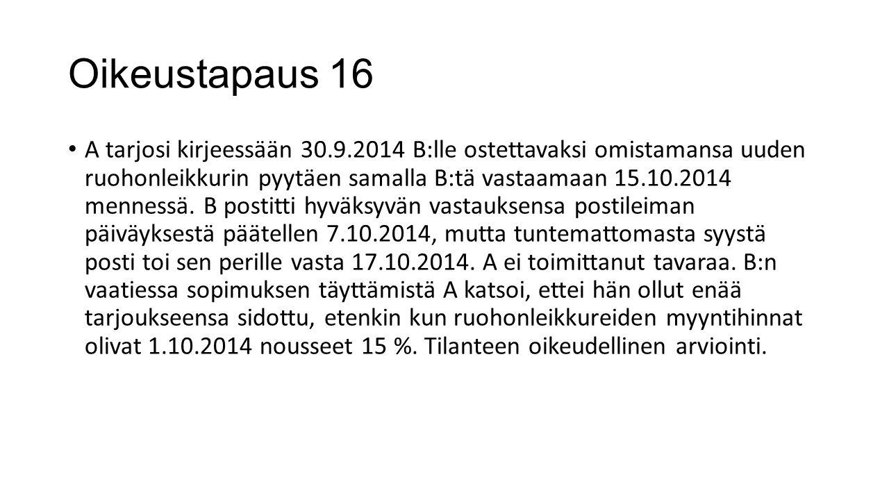 Oikeustapaus 16