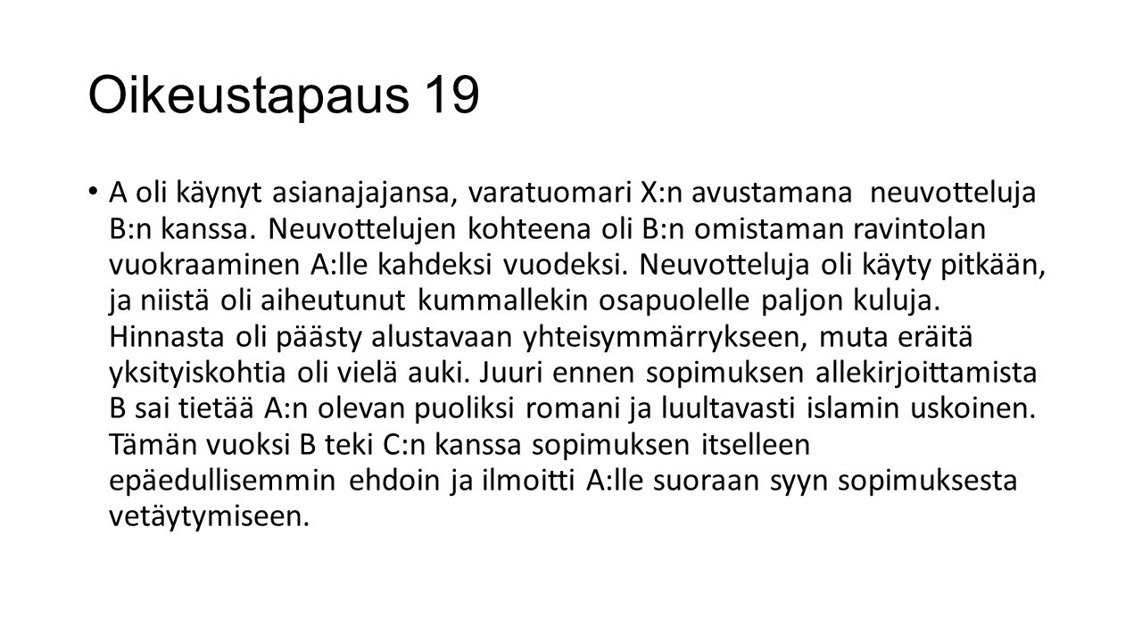 Oikeustapaus 19