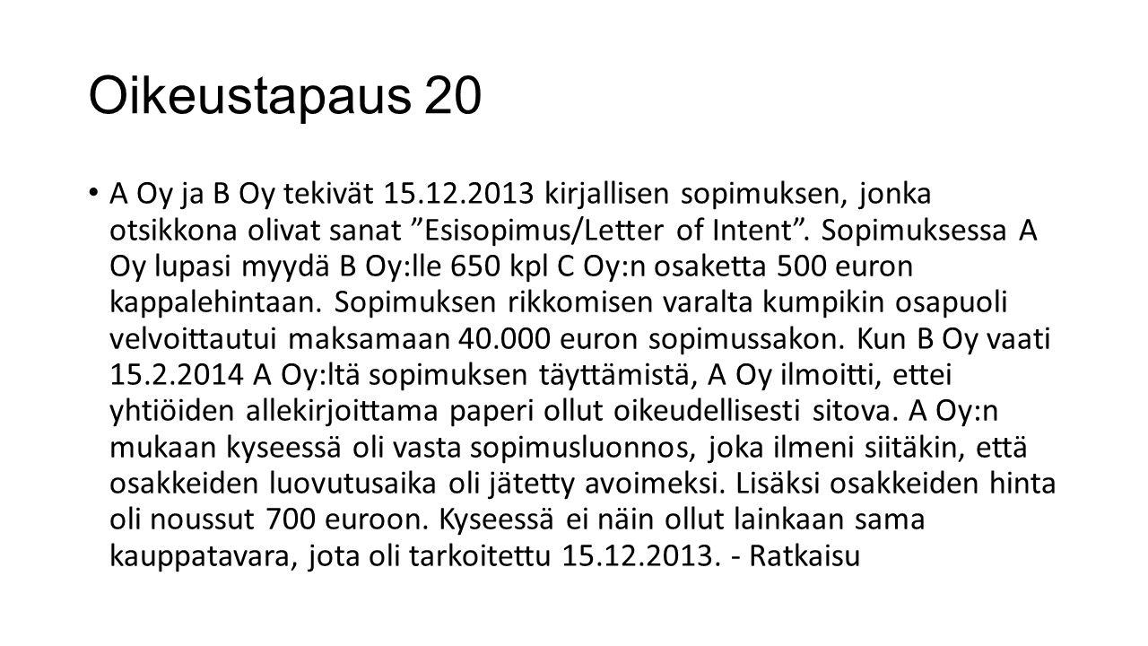 Oikeustapaus 20