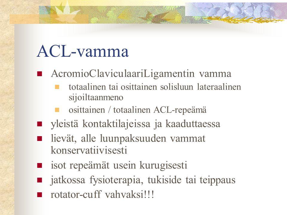ACL-vamma AcromioClaviculaariLigamentin vamma
