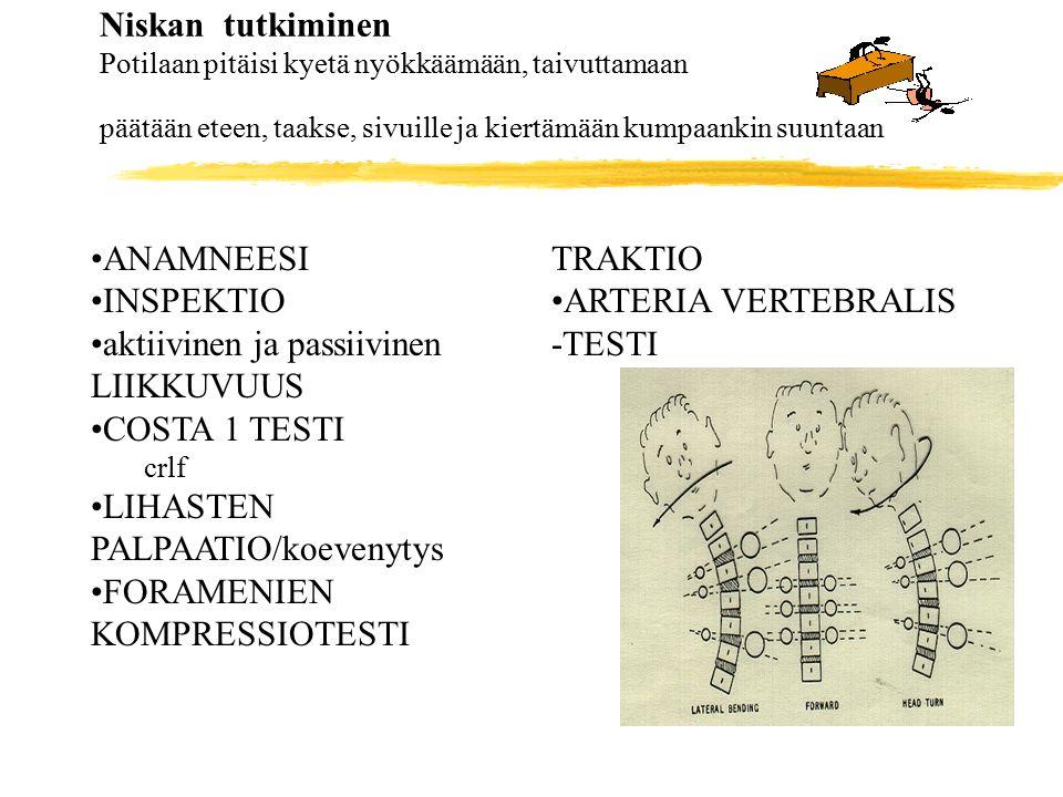 aktiivinen ja passiivinen LIIKKUVUUS COSTA 1 TESTI
