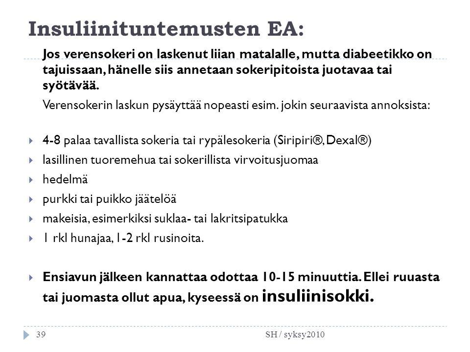 Insuliinituntemusten EA: