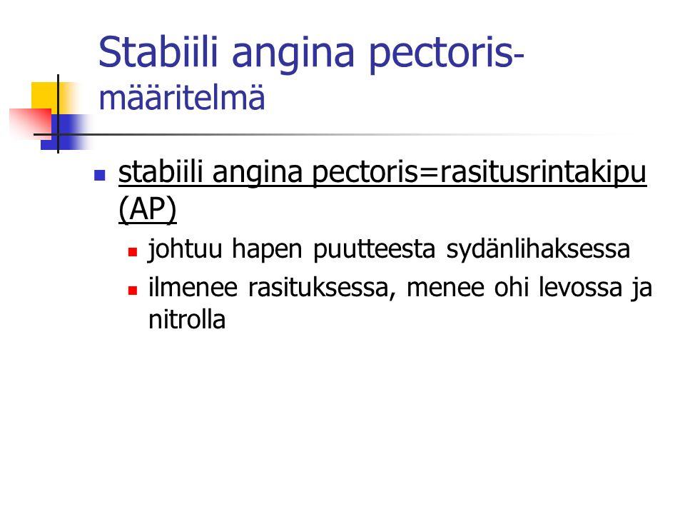 Stabiili angina pectoris-määritelmä