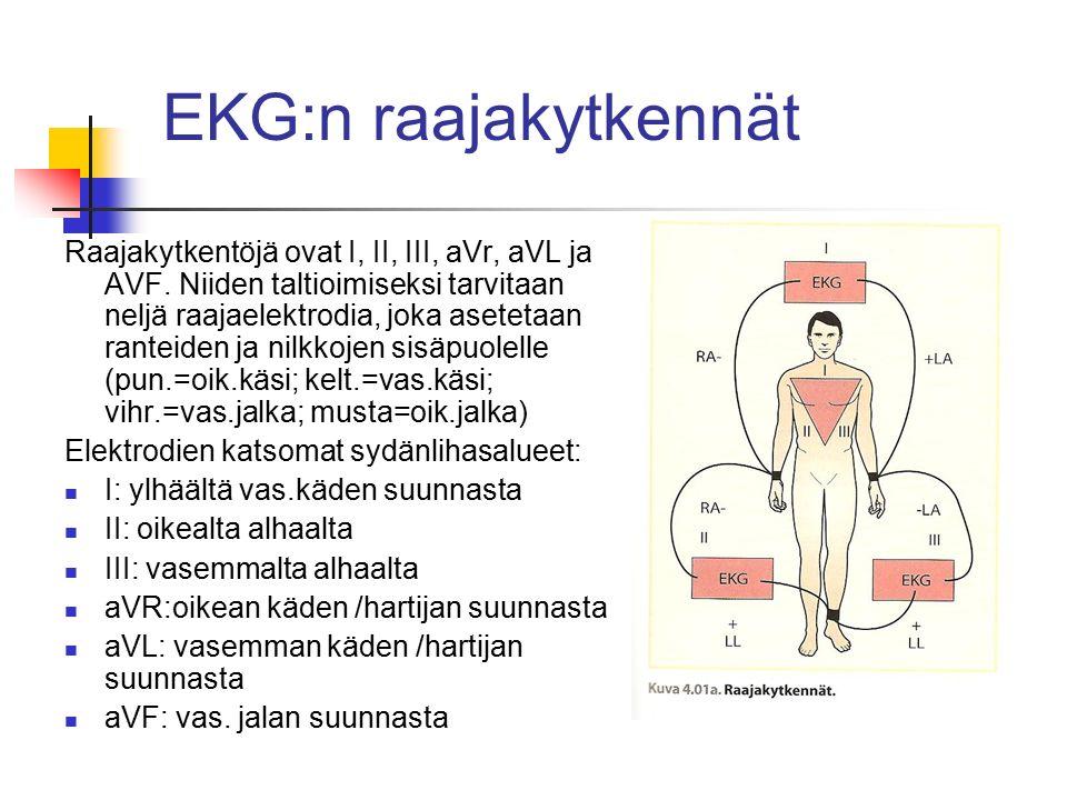EKG:n raajakytkennät