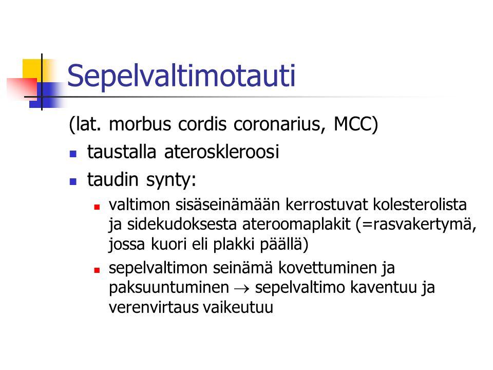 Sepelvaltimotauti (lat. morbus cordis coronarius, MCC)
