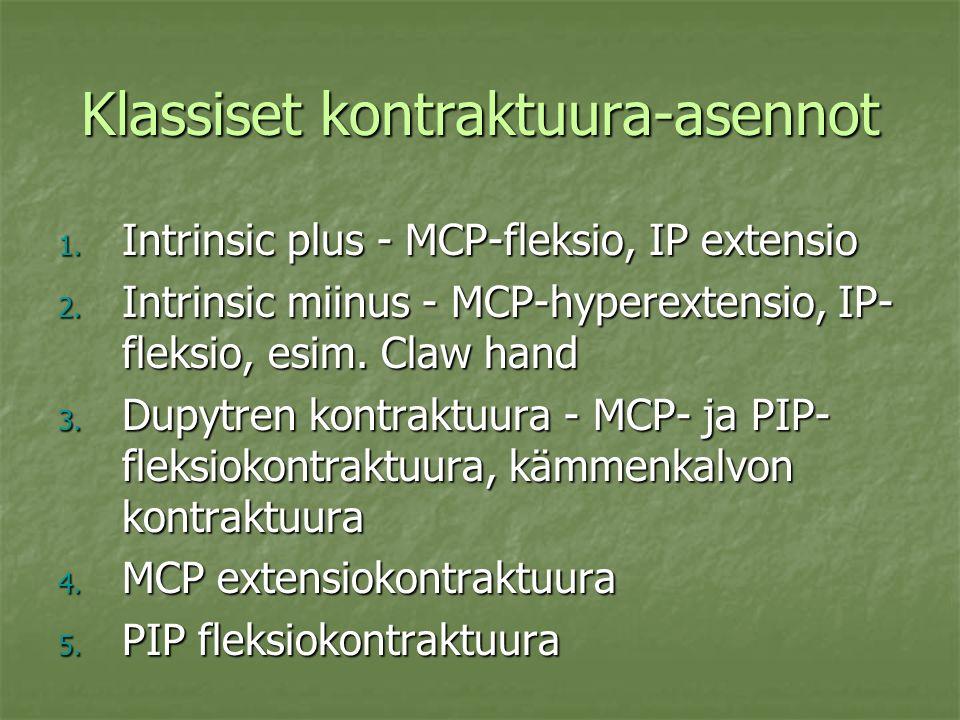 Klassiset kontraktuura-asennot