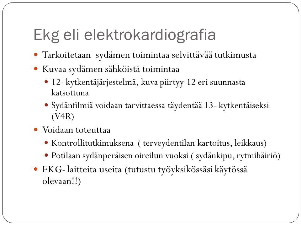 Ekg eli elektrokardiografia