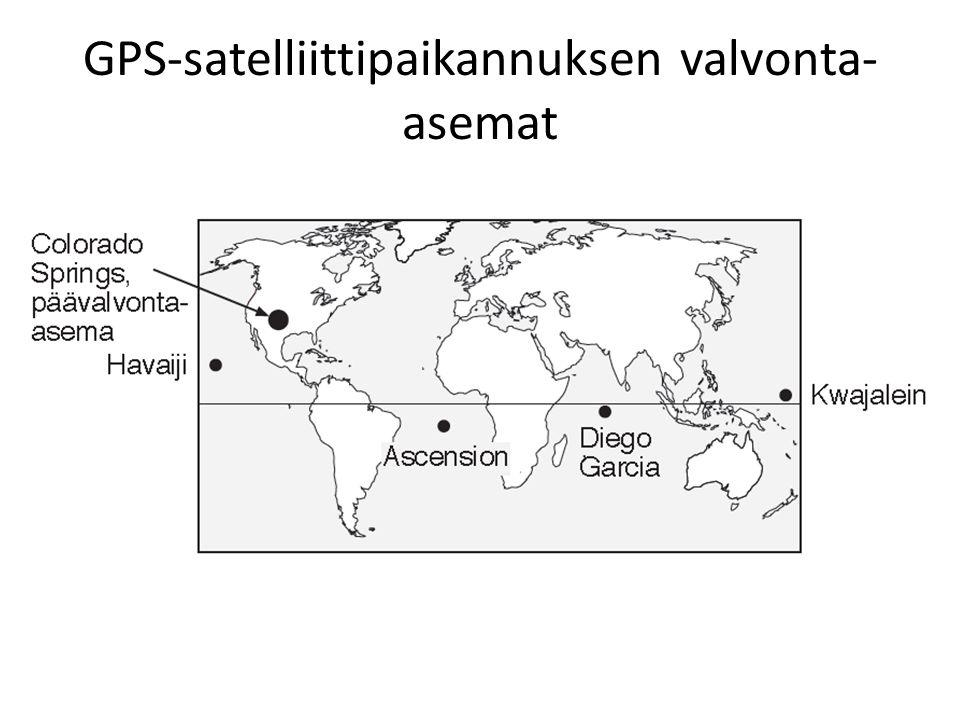 GPS-satelliittipaikannuksen valvonta-asemat