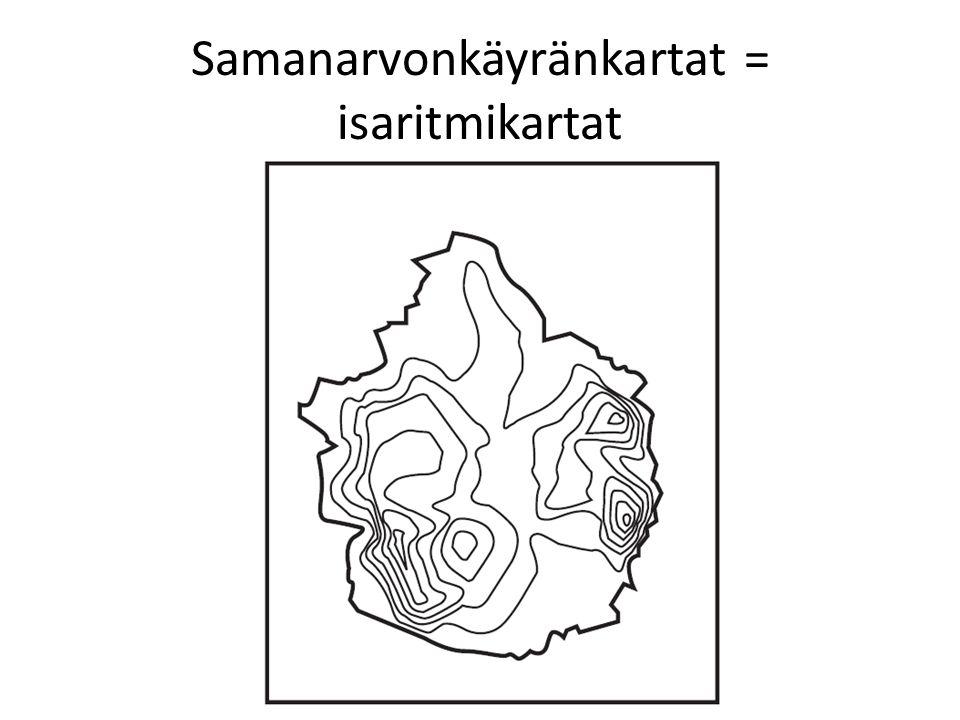 Samanarvonkäyränkartat = isaritmikartat