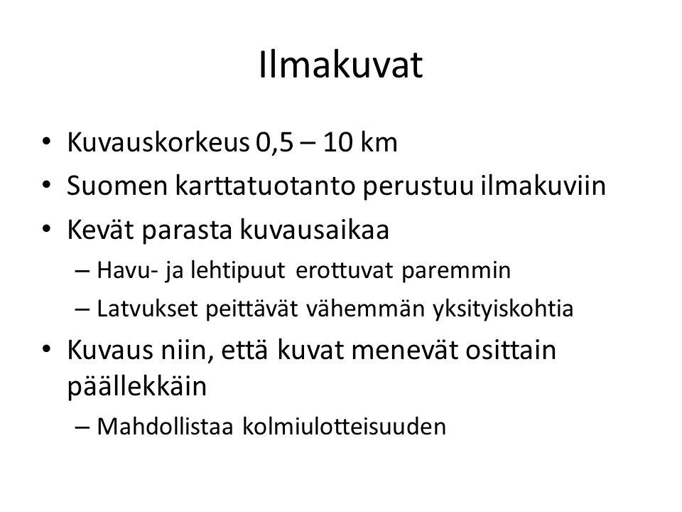 Ilmakuvat Kuvauskorkeus 0,5 – 10 km
