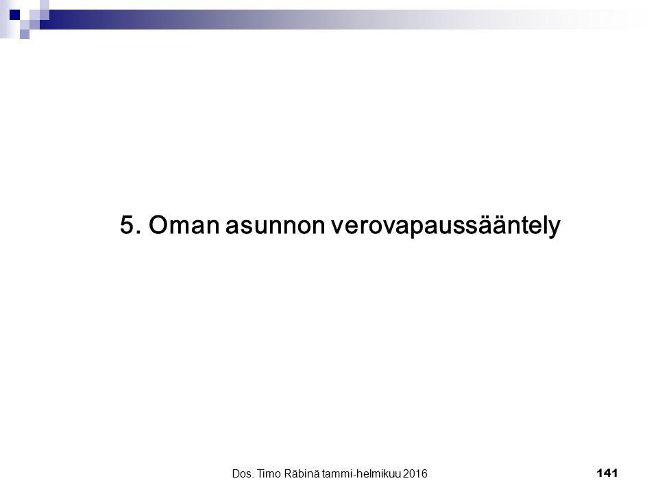 5. Oman asunnon verovapaussääntely