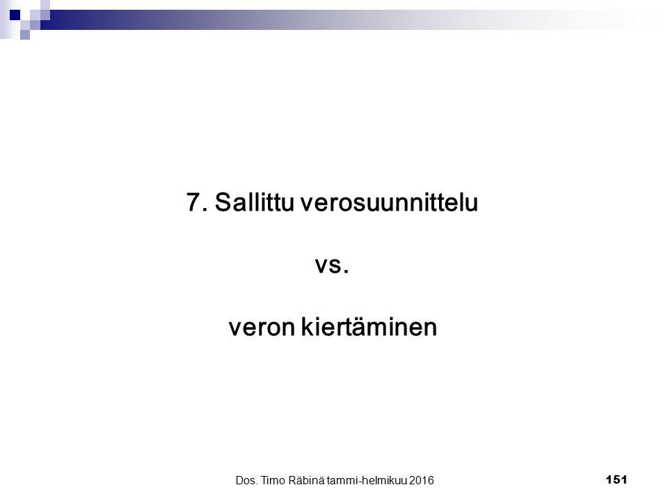 7. Sallittu verosuunnittelu