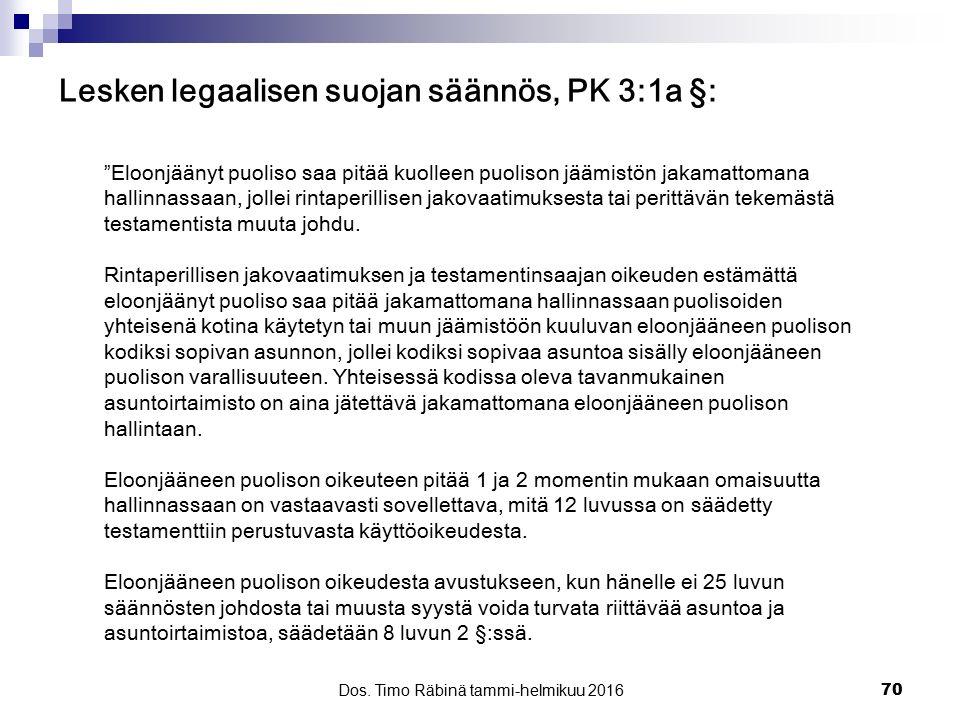 Lesken legaalisen suojan säännös, PK 3:1a §:
