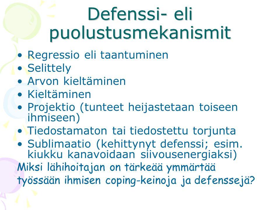 Defenssi- eli puolustusmekanismit