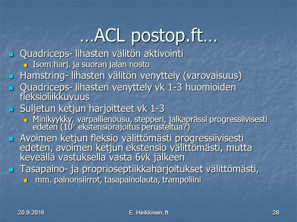 …ACL postop.ft… Quadriceps- lihasten välitön aktivointi