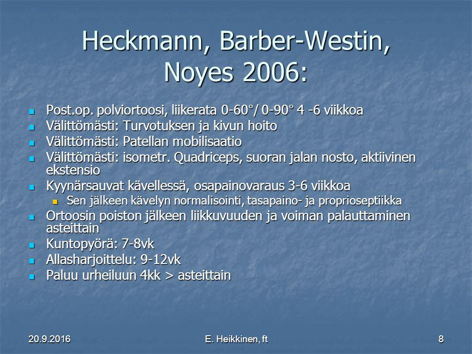 Heckmann, Barber-Westin, Noyes 2006:
