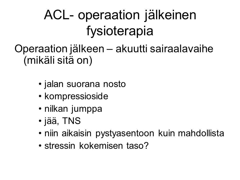 ACL- operaation jälkeinen fysioterapia