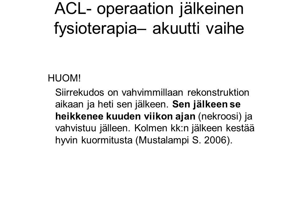 ACL- operaation jälkeinen fysioterapia– akuutti vaihe