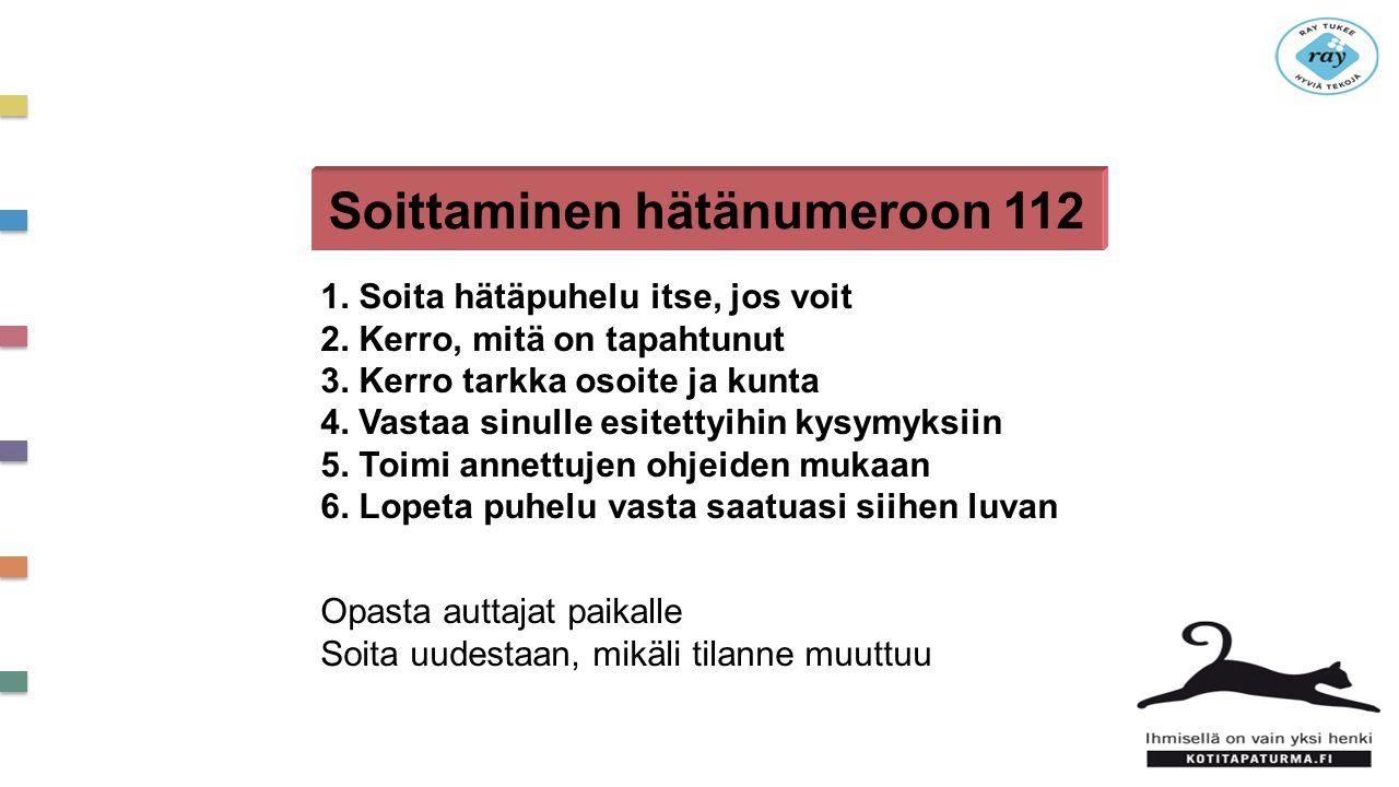 Soittaminen hätänumeroon 112