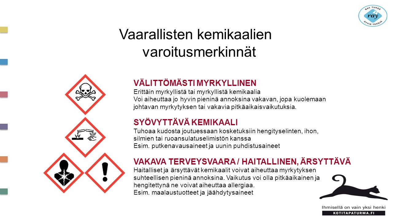 Vaarallisten kemikaalien varoitusmerkinnät