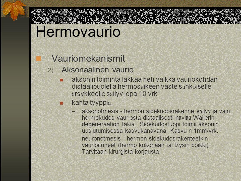 Hermovaurio Vauriomekanismit Aksonaalinen vaurio