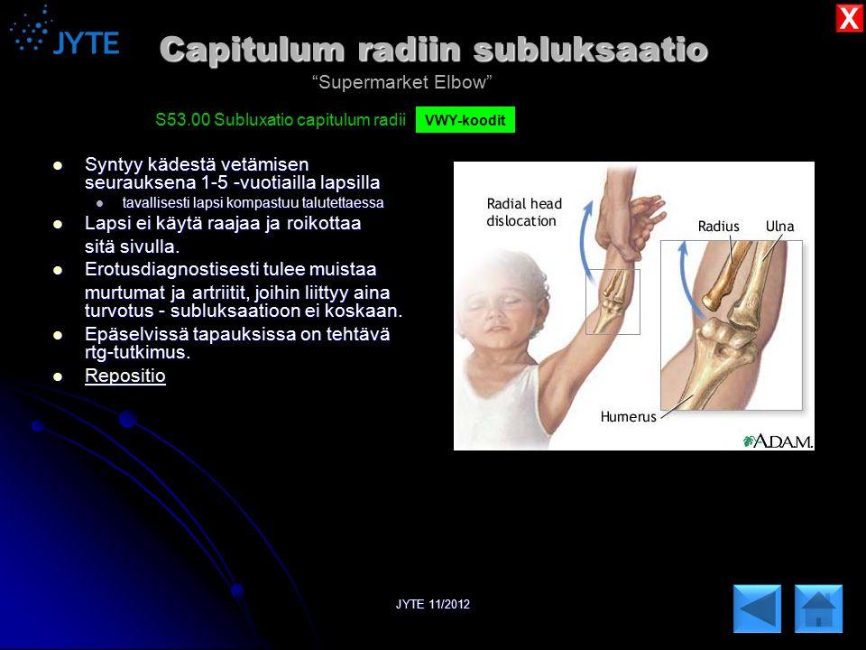 Capitulum radiin subluksaatio