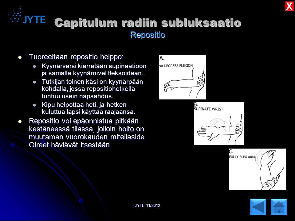 Capitulum radiin subluksaatio Repositio