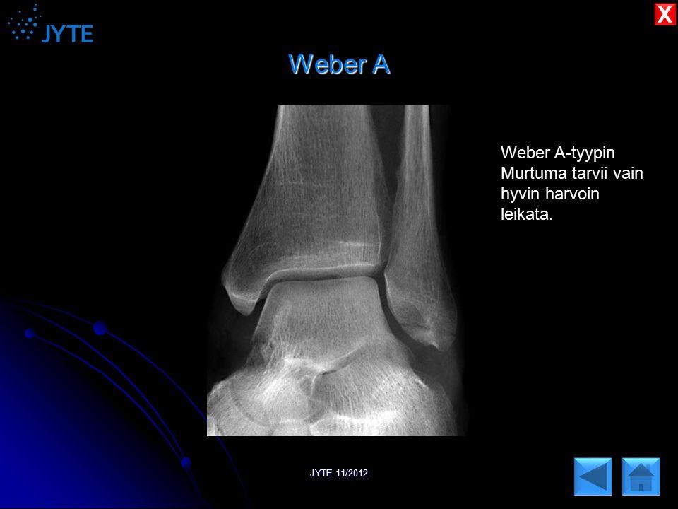Weber A X Weber A-tyypin Murtuma tarvii vain hyvin harvoin leikata.
