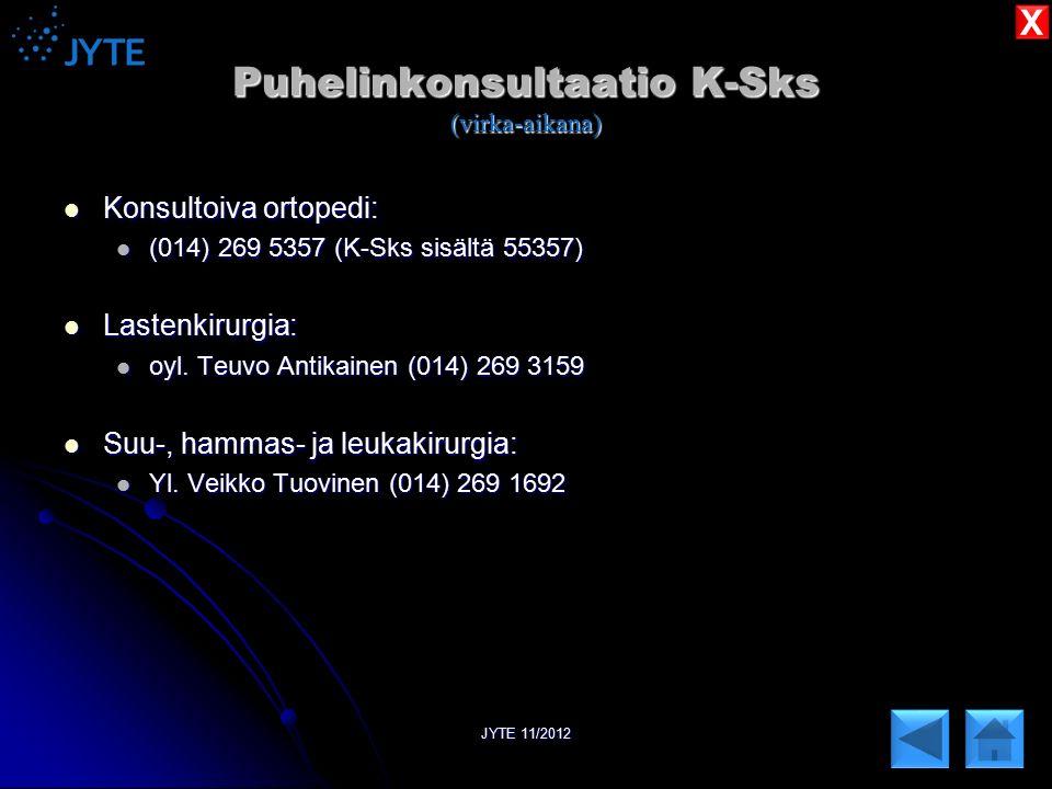 Puhelinkonsultaatio K-Sks (virka-aikana)