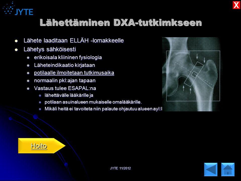 Lähettäminen DXA-tutkimkseen