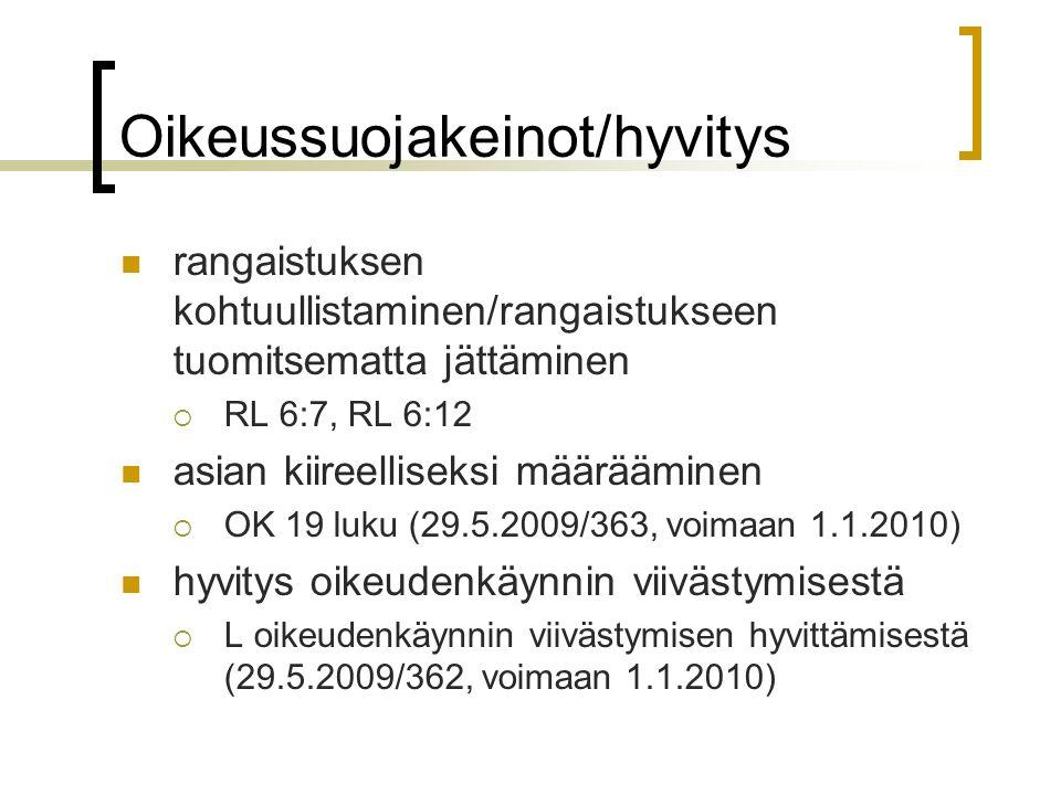 Oikeussuojakeinot/hyvitys