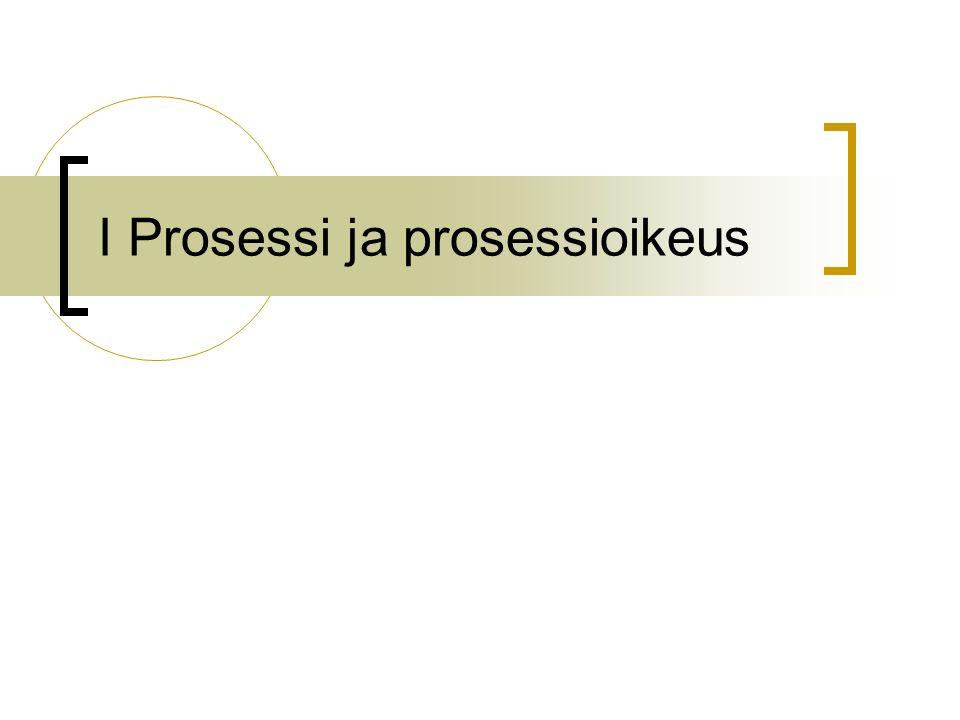 I Prosessi ja prosessioikeus