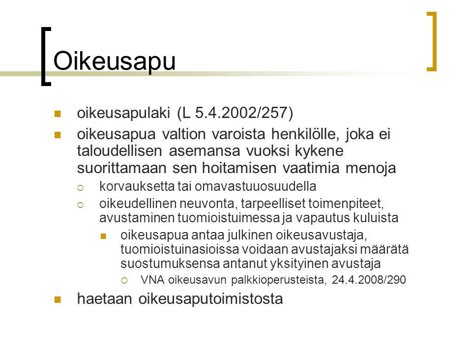 Oikeusapu oikeusapulaki (L 5.4.2002/257)